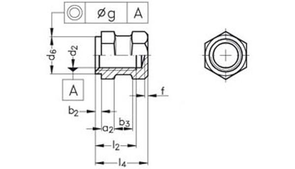 вставка DIN 16903 STN-26 форма G